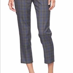 Gap Slim Cropped Plaid Pants